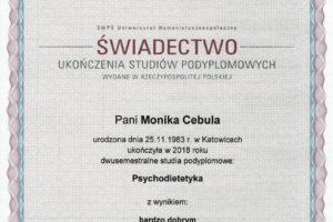 Monika Cebula dietetyk certyfikaty_004