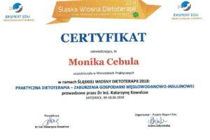 Monika Cebula dietetyk certyfikaty_011