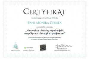 Monika Cebula dietetyk certyfikaty_015