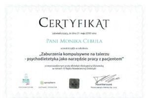 Monika Cebula dietetyk certyfikaty_016