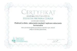 Monika Cebula dietetyk certyfikaty_018