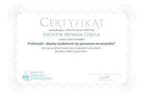 Monika Cebula dietetyk certyfikaty_020
